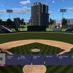 Go to any of the 30 on-the-disc templates included with <em>MLB The Show 21</em> and open one, as if to edit it.