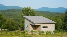 Energy Efficient Micro House Frames Mountain Views In