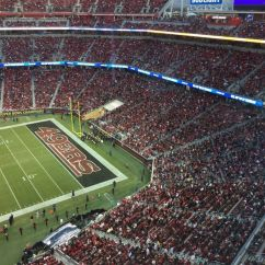 49ers Camping Chair Portable Picnic Sell Out Levis Stadium For Tnf But Only Half Show