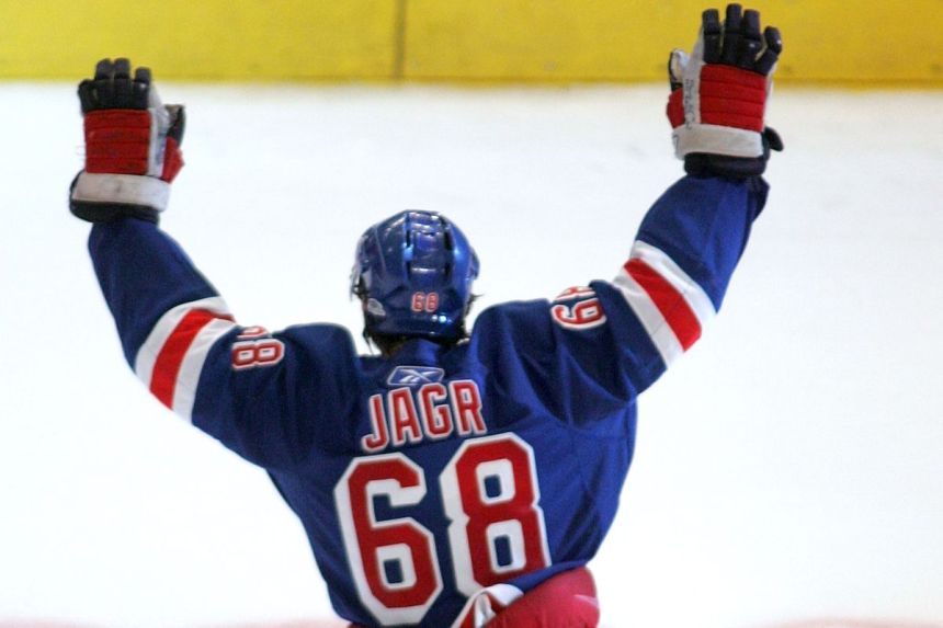 new style 61b3d d63c5 A Tribute To Jaromir Jagr - FOREVER BLUESHIRTS