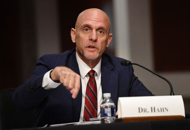 FDA Commissioner Stephen Hahn testifies before the Senate Health, Education, Labor and Pensions (HELP) Committee hearing on Capitol Hill in Washington DC on June 30, 2020 in Washington,DC.