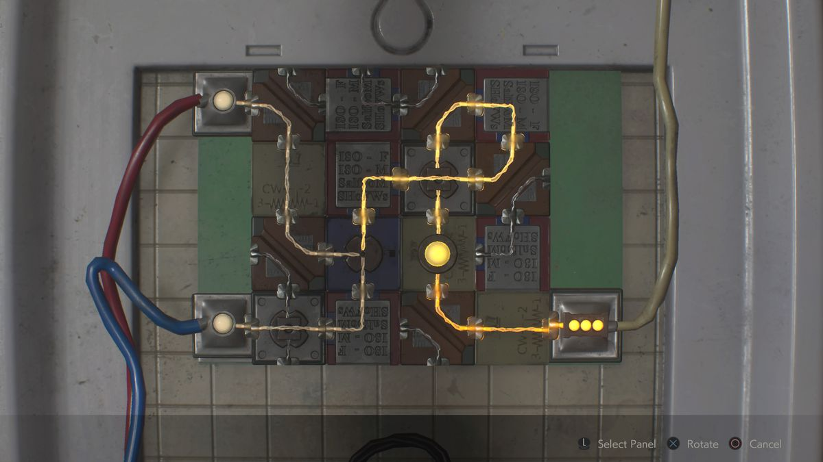 hight resolution of resident evil 2 remake leon 2nd electronic part panel puzzle solution
