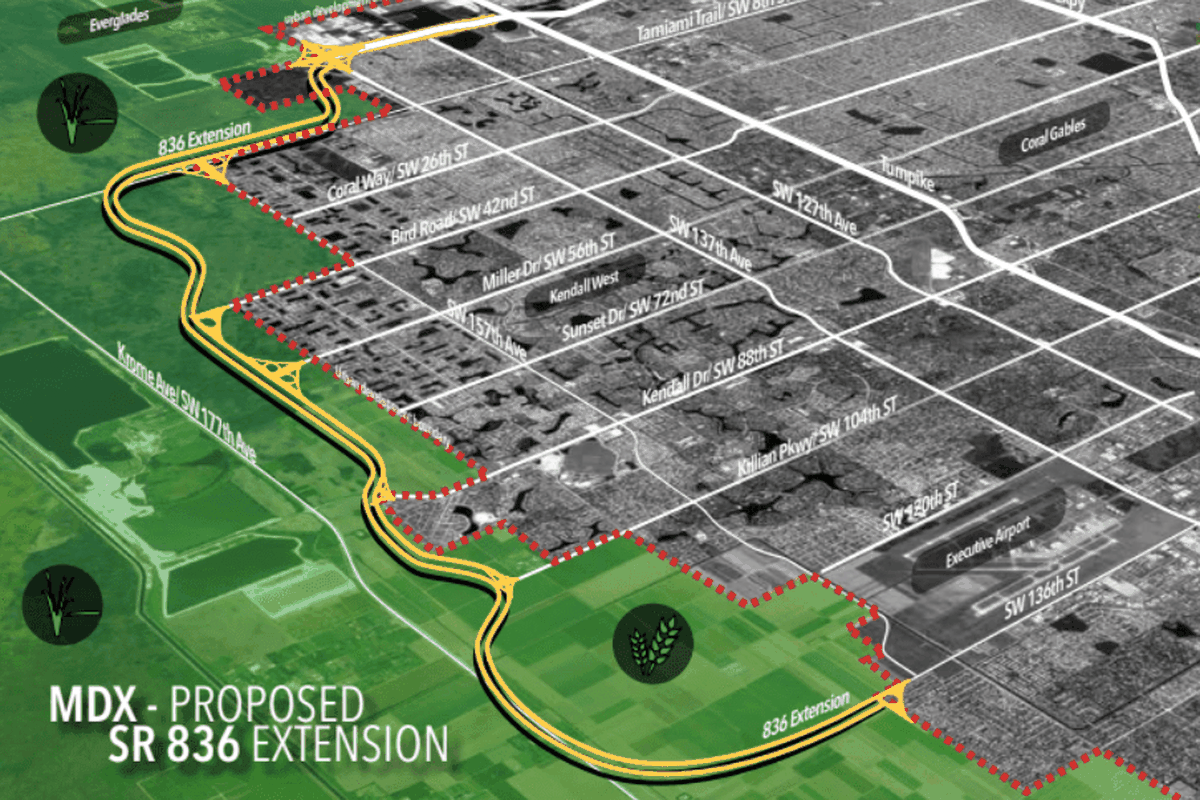 hight resolution of miami dade approves dolphin expressway extension through the everglades