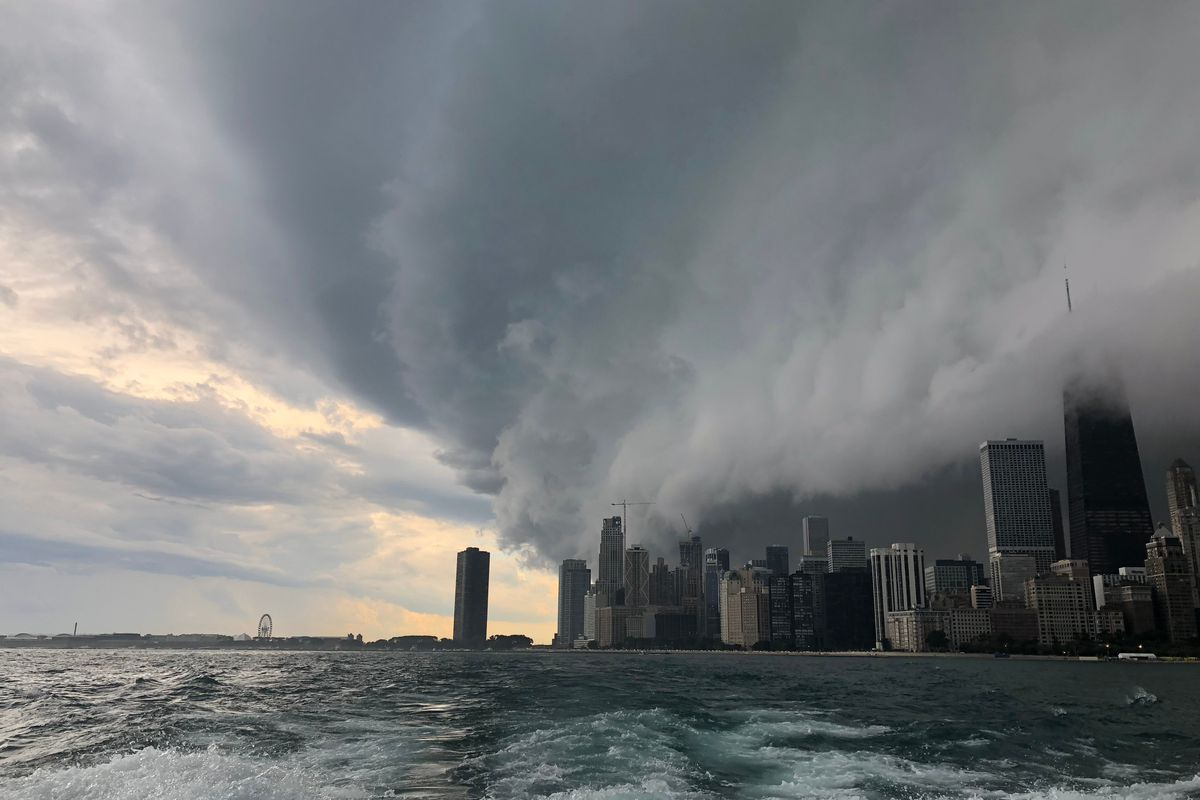 Heat Wave Delay Chicago Sees Flooding Pea Sized Hail