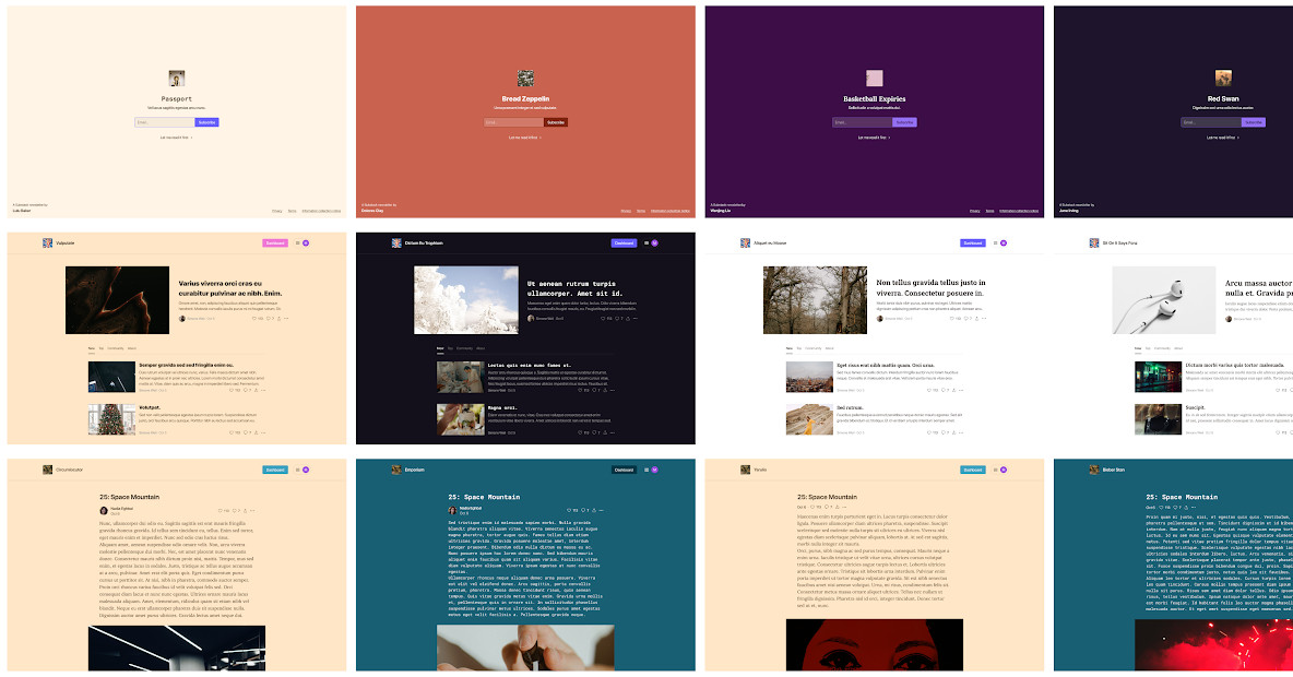 Substack is adding theming options to change the look of newsletters