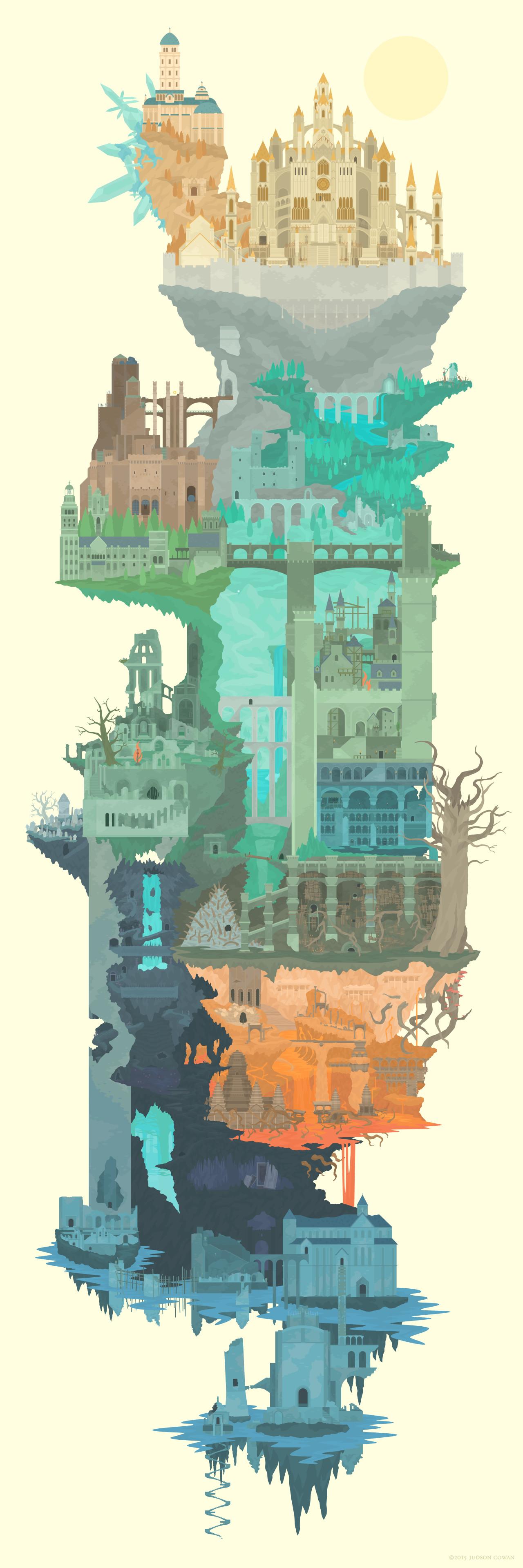 Dark Souls 2 World Map : souls, world, Souls, Maping, Resources