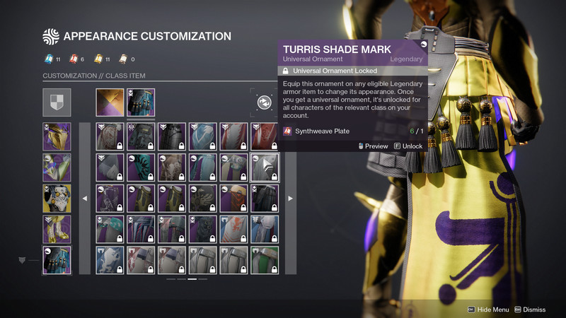 Destiny 2 Transmog menu