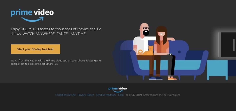 Amazon Prime video subscriptions