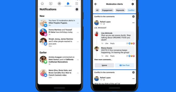 Facebook's AI moderator will tell group admins when users are beefing in the comments