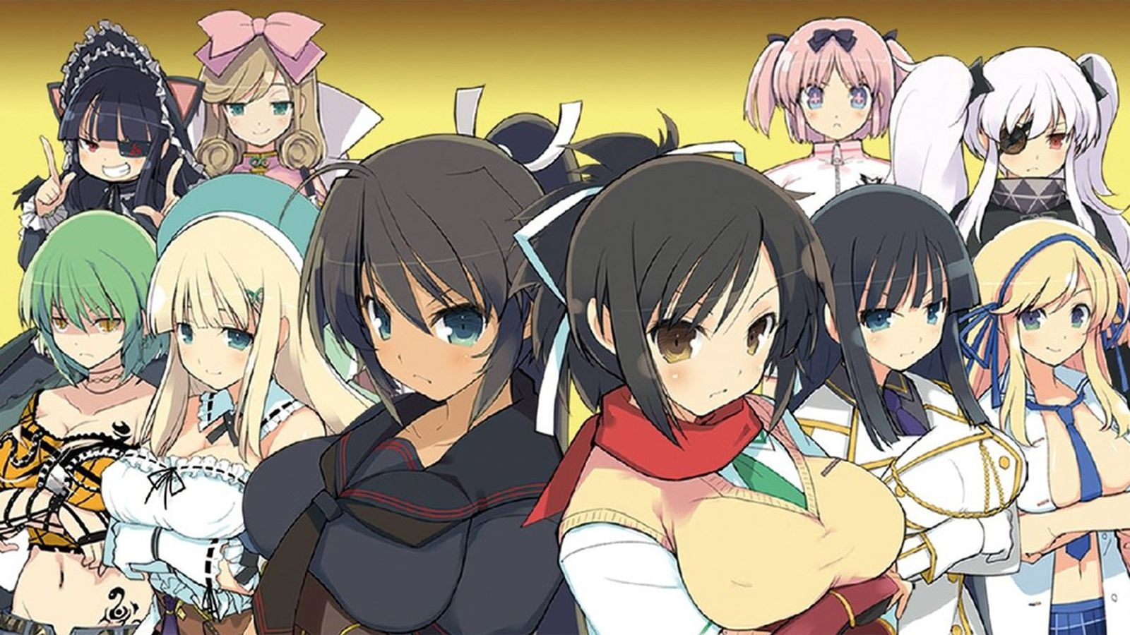 Never Fall In Love Wallpaper Senran Kagura Burst Coming To Nintendo 3ds Eshop This Fall