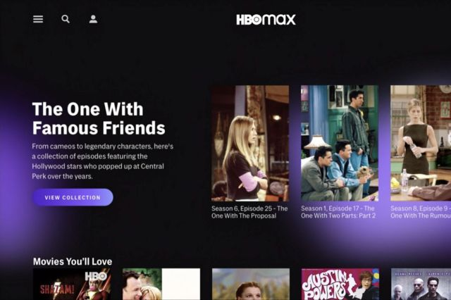 HBO Max showing Friends