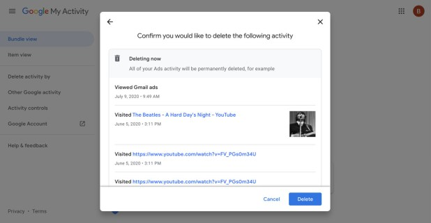 Android: The last step before you delete your activity.