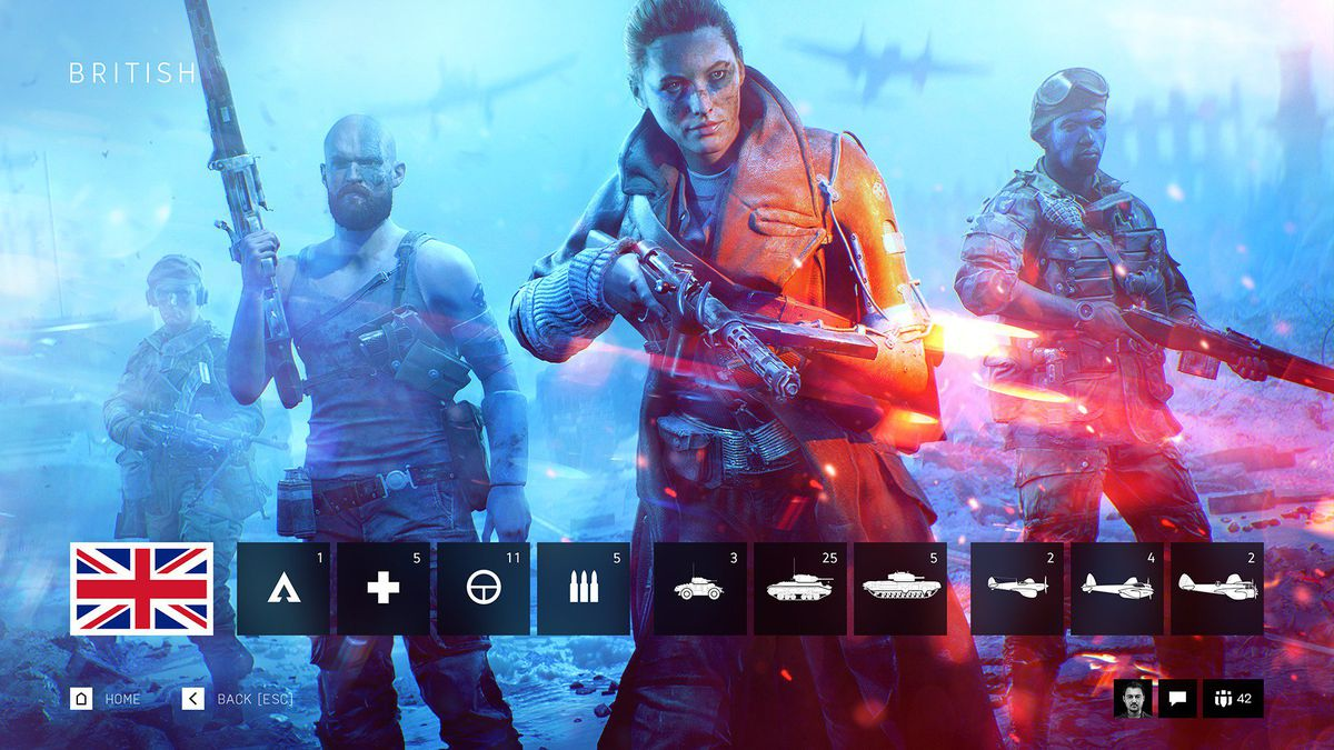 Windows Rotating Wallpaper Fall Battlefield 5 Cosmetics And Character Customization Polygon