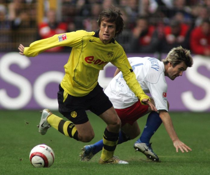 Fussball: 1. BL 04/05, Borussia Dortmund-HSV