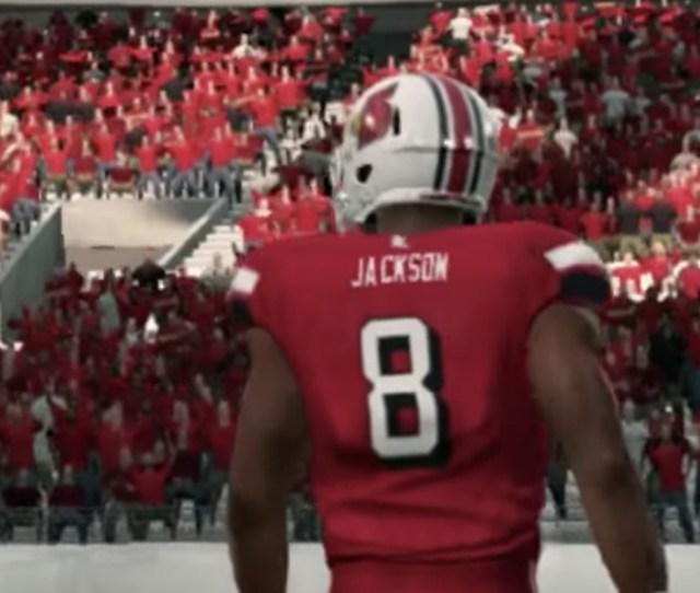 A Player Created Lamar Jackson In Ncaa Football 14 Youtube