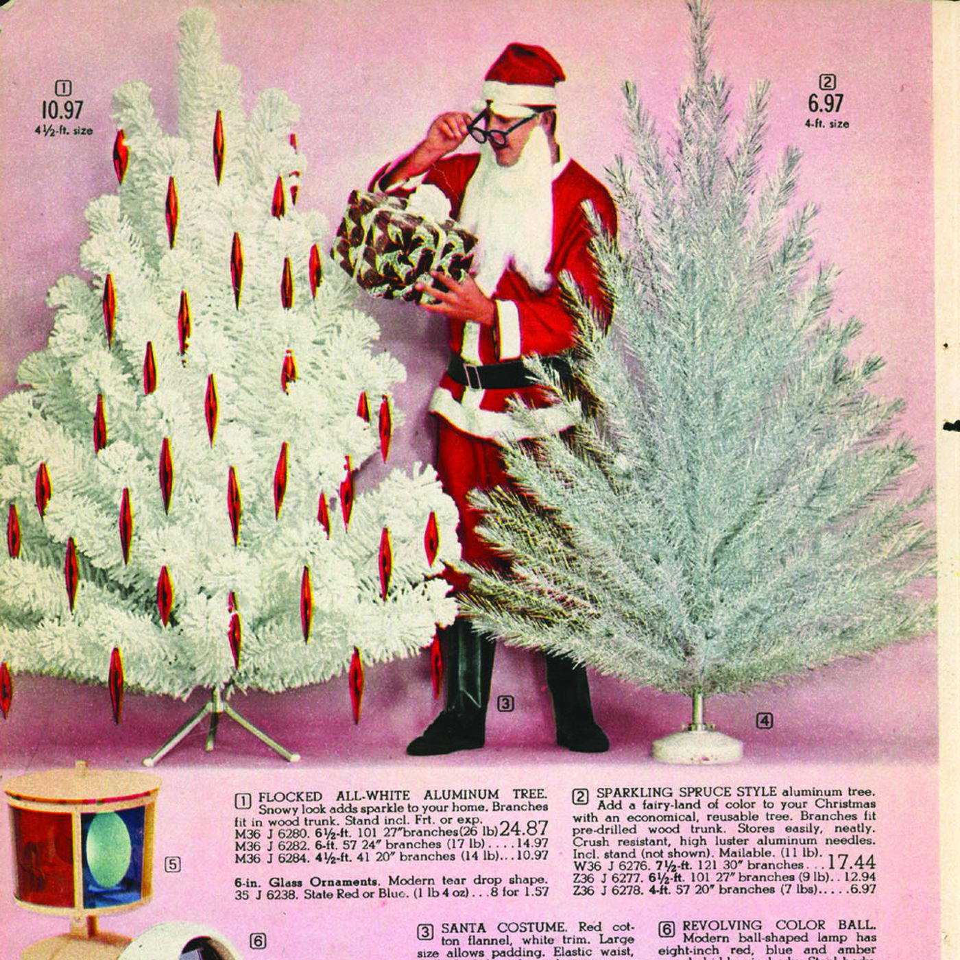 Mid Century Christmas Ornaments