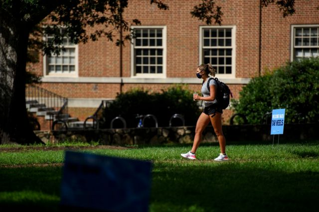 University Of North Carolina Switches To All Remote Learning After Spike In Coronavirus Rates