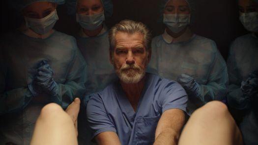 Pierce Brosnan as Dr Hindle in False Positive