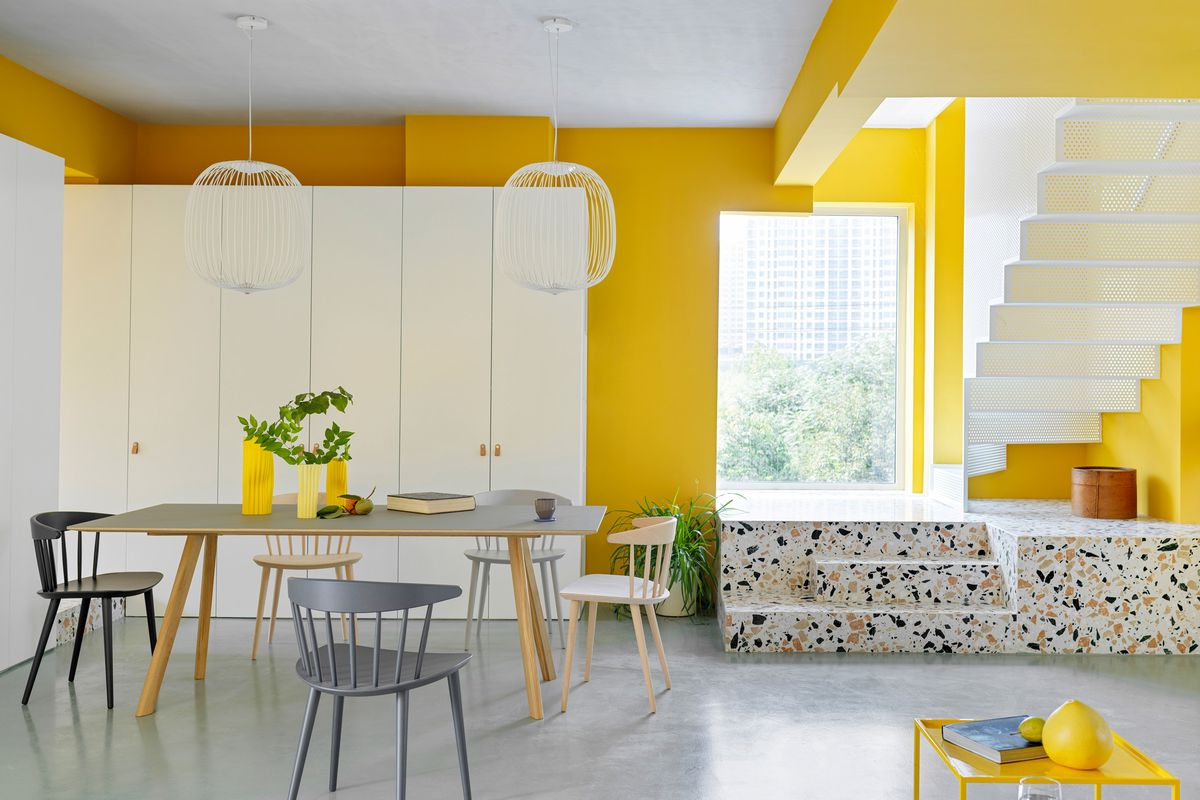 Renovated Apartment Shows Off Yellow Decor Ideas Curbed