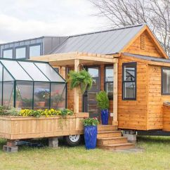 Swing Chair Home Town Aqua Dining Cushions Tiny House Comes With A Greenhouse And Porch Curbed Charming