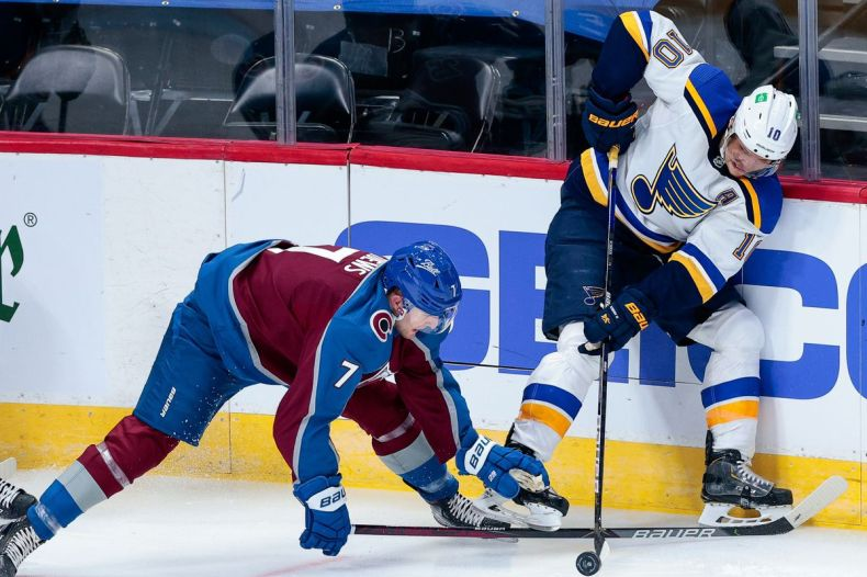 St Louis Blues top the Colorado Avalanche 4-1 to begin 2021 season - Mile  High Hockey
