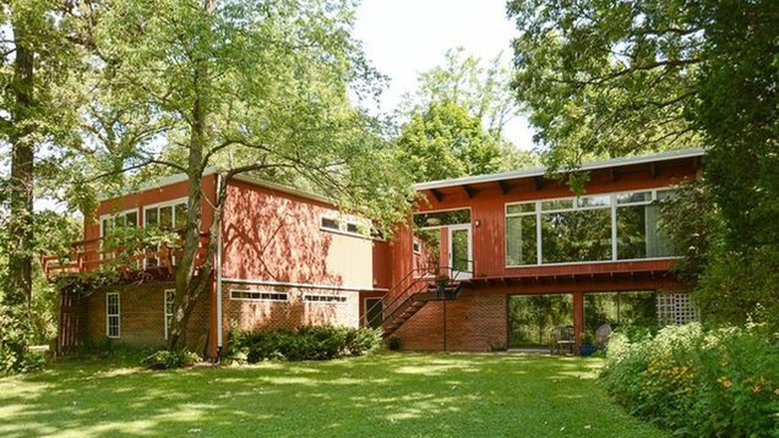 Walnut Paneled Palos MidCentury on Two Acres Wants 449K  Curbed Chicago