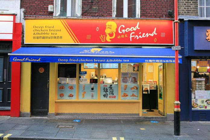 Good Friend Chicken is open for take out in Chinatown during the coronavirus lockdown in London