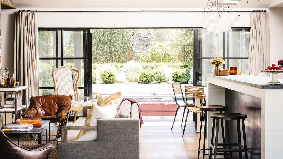 wine country living room brown and beige a couple turns modest ranch house into retreat curbed