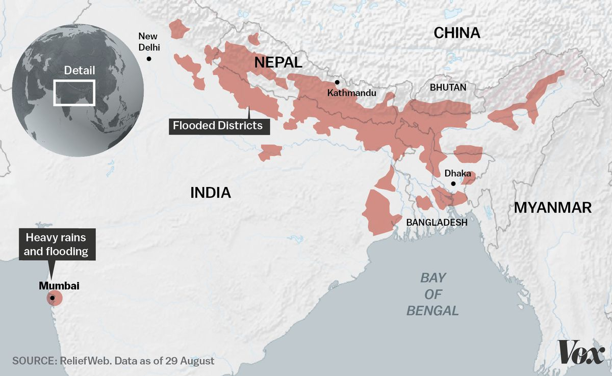 Photos: Devastating monsoon rains affect 41 million people in South Asia - Vox