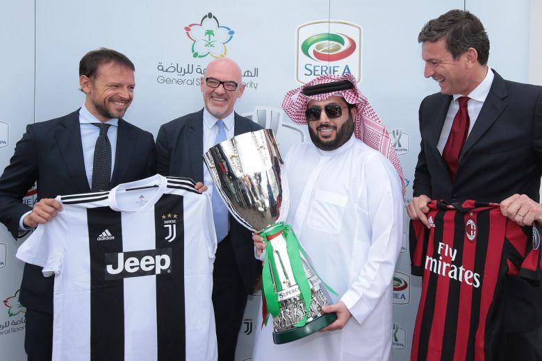 La Lega Serie A e la General Sport Autority hanno stipulato un contratto che porterà la finale di Supercoppa Italiana in Arabia Saudita per le prossime tre edizioni. Foto: Getty Images.