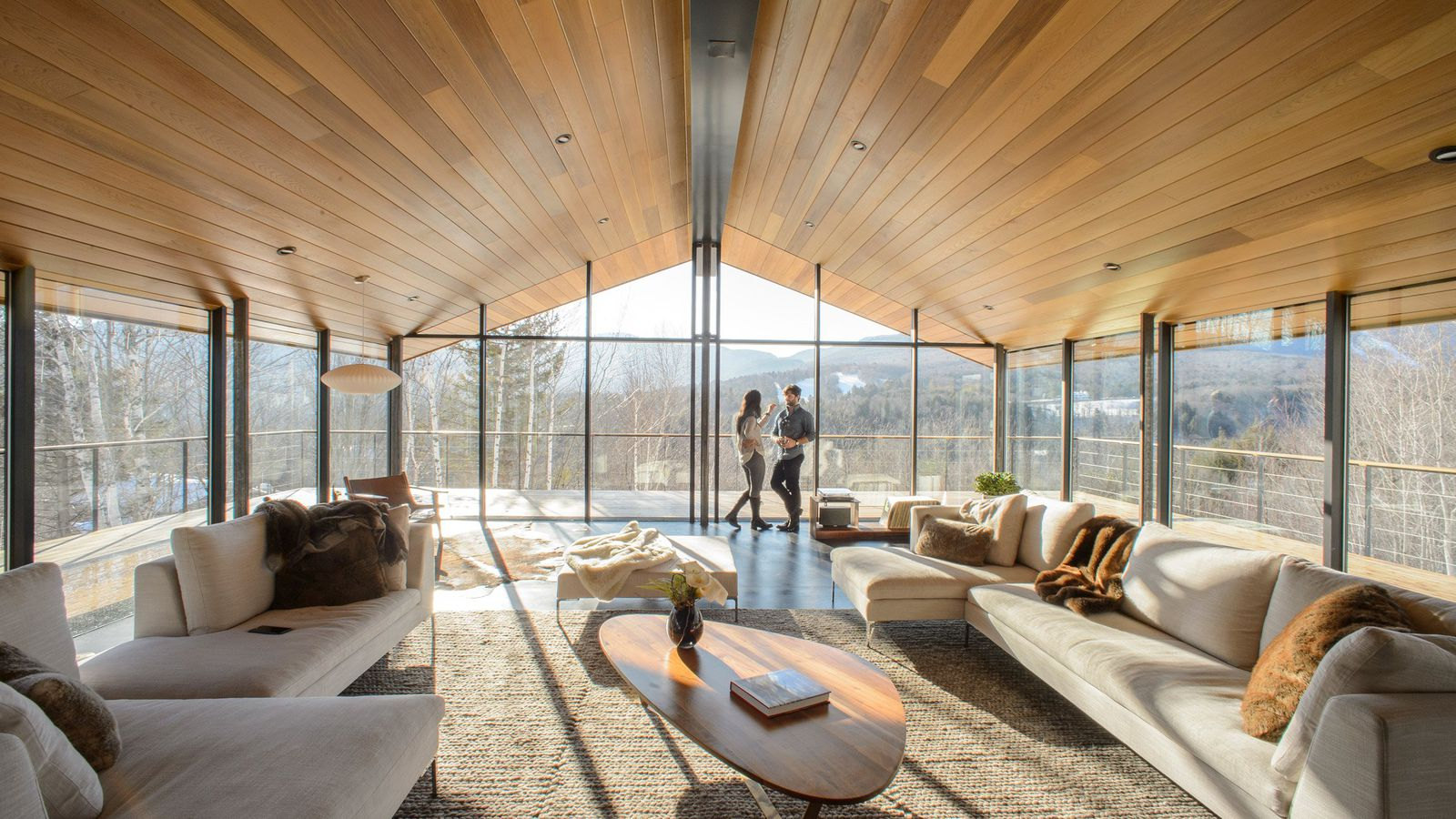 Threepronged glass house rises in Vermont  Curbed