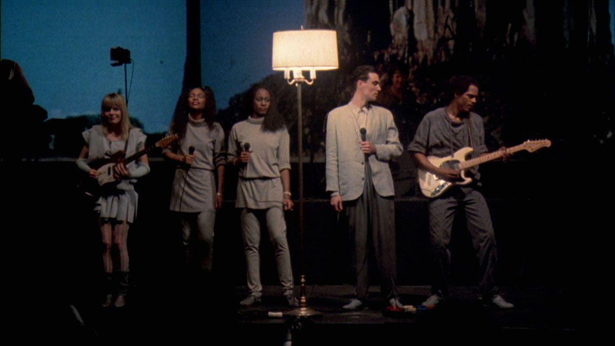 David Byrne performs alongside the Talking Heads in Stop Making Sense