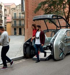ez go is an electric driverless ride share vehicle by renault [ 1200 x 800 Pixel ]