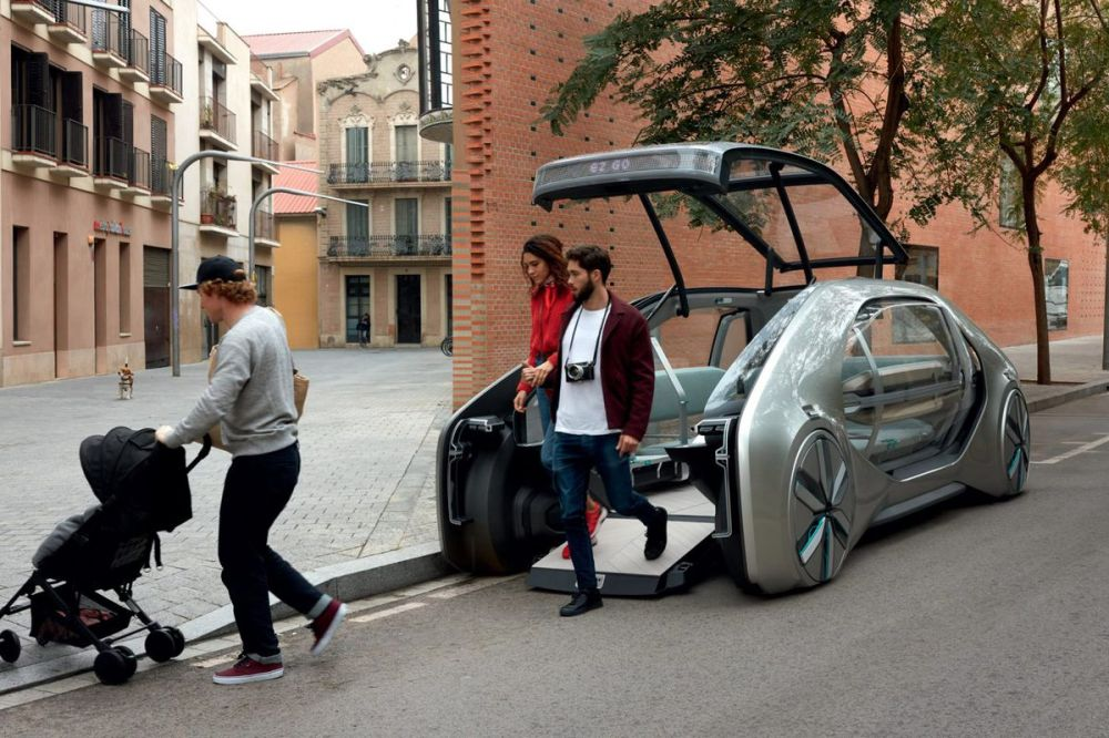 medium resolution of ez go is an electric driverless ride share vehicle by renault