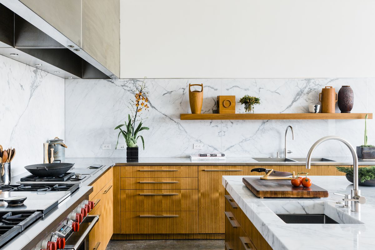 how to redesign a kitchen cherry wood cabinet doors design ideas tips and advice curbed dallas dream house designed by tod williams billie tsien architects features this stunning with custom cabinetry marble backsplash