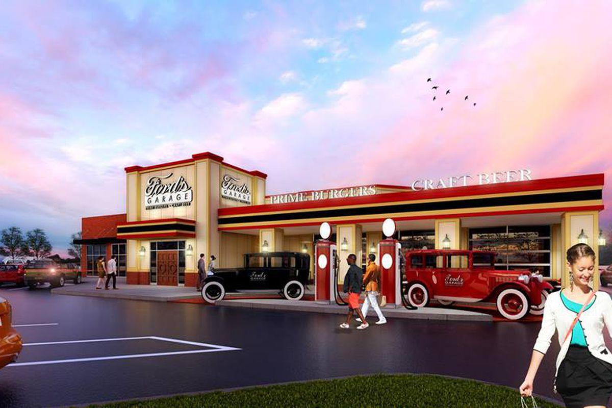 CarThemed Restaurant Fords Garage Cruises Into Dearborn