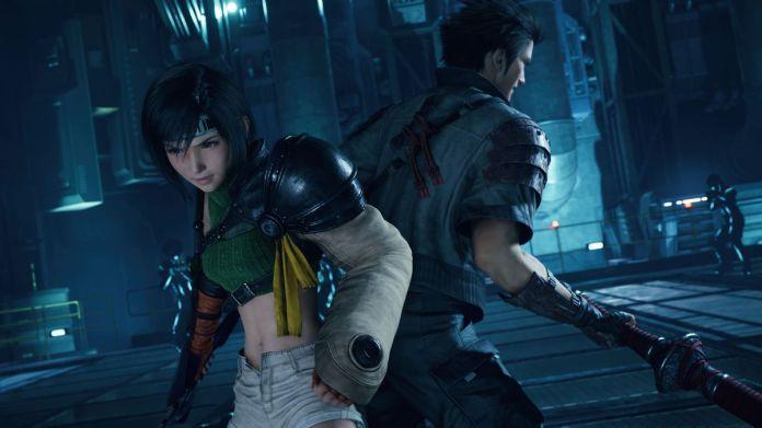 Yuffie stoi ramię w ramię z Sononem w FInal Fantasy 7 Remake Intergrade