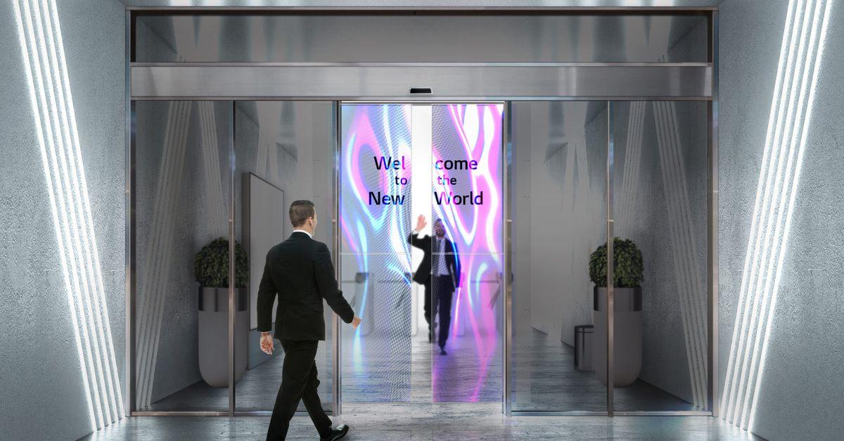 LG developing sliding doors made of transparent OLED displays