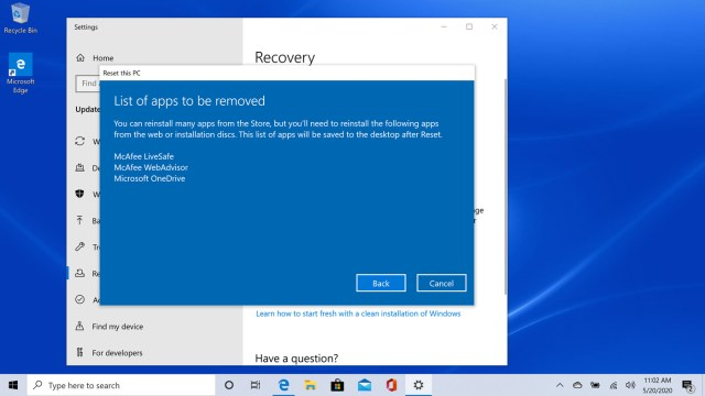 How to reset your Windows 27 PC when your having problems - The Verge