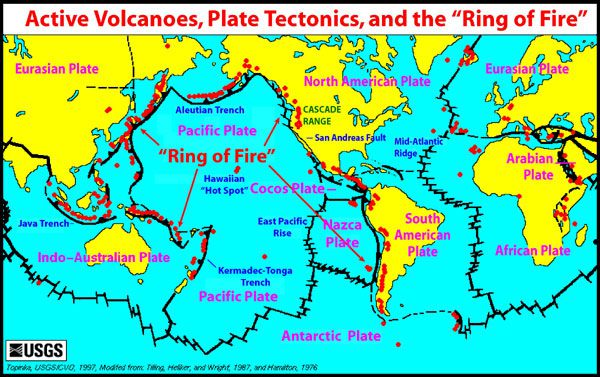 Earthquakes And Volcanoes In The Pacific Ring Of Fire Are Active - Active-volcanoes-in-the-us-map
