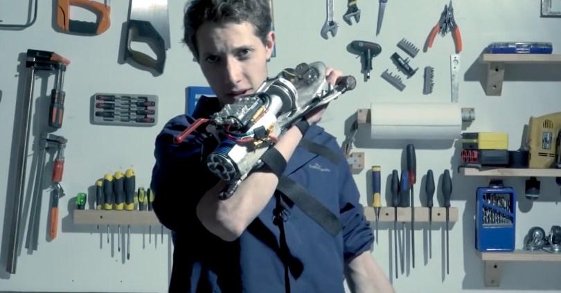 This maker built a working Batman grappling gun in only a year