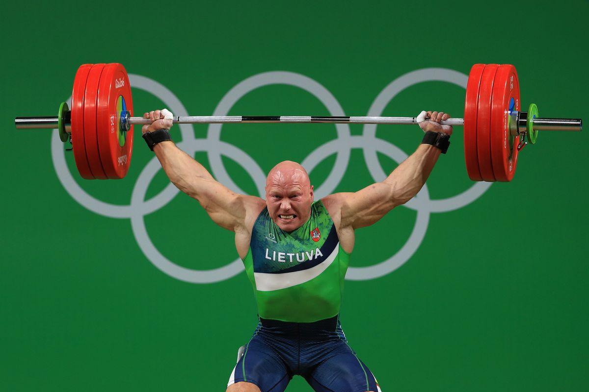 Lithuanian Weightlifter Backflips In Celebration Of Bronze Medal Win