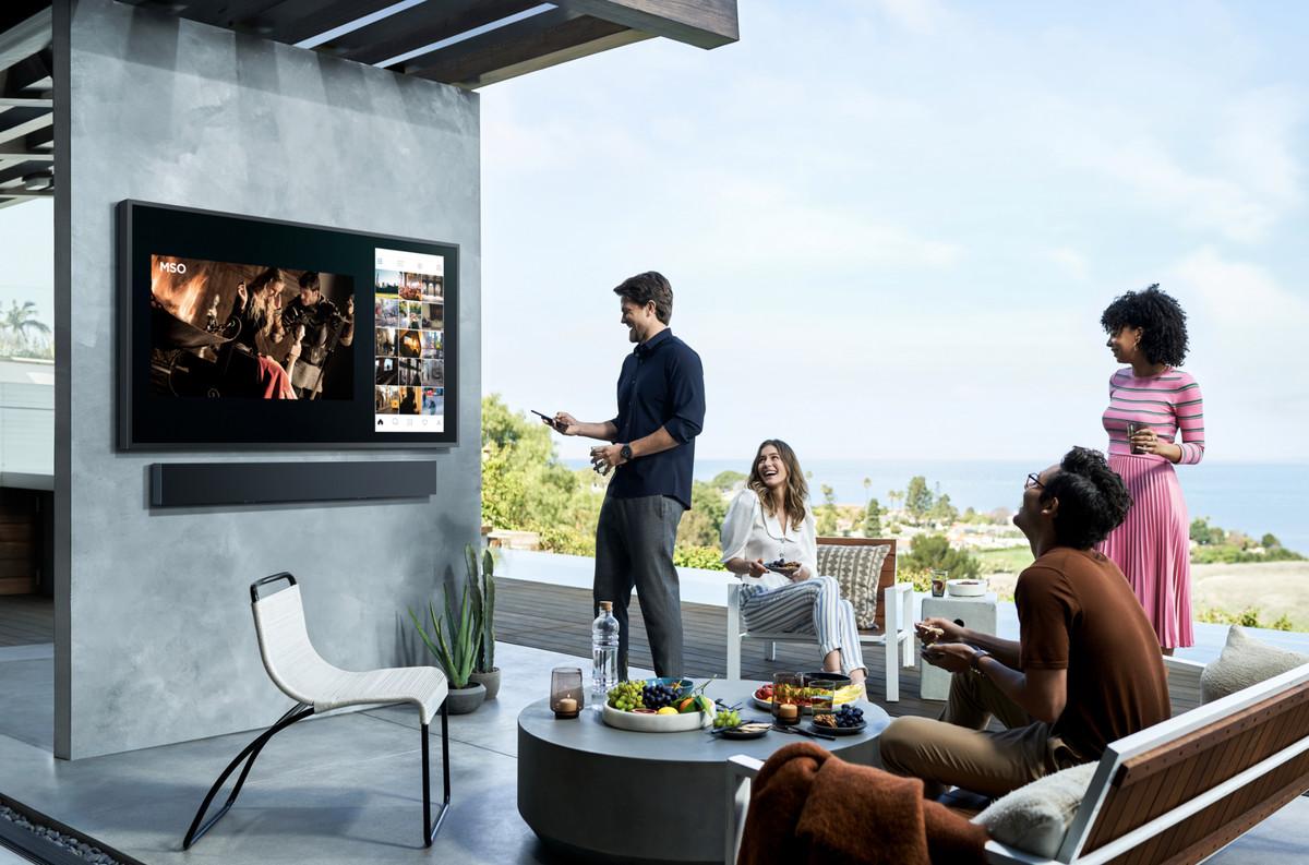 outdoor 4k tv called the terrace