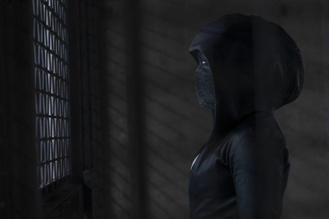 Regina King in full costume in HBO's Watchmen.