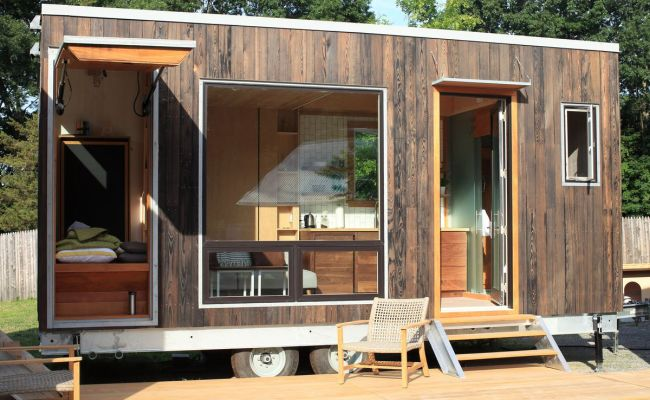 Modern Tiny House Hides A Drop Down Bed Curbed