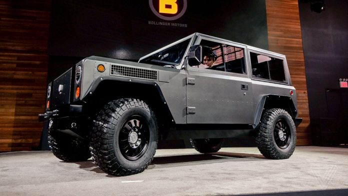 the bollinger b1 is an all-electric truck with 360 horsepower and up