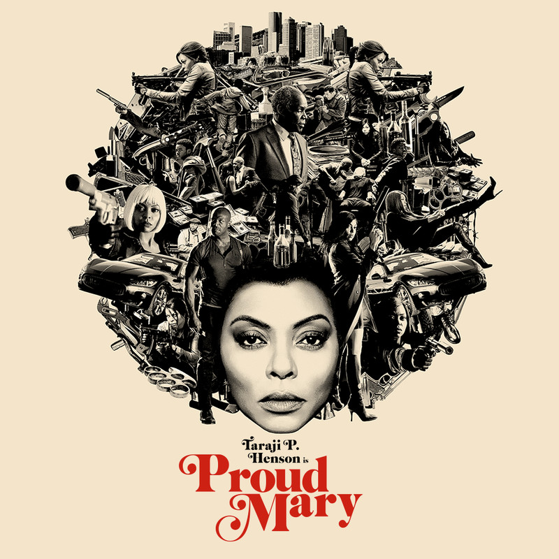 The 70s-inspired poster for Proud Mary