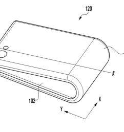 a samsung bendable phone patent  [ 1182 x 740 Pixel ]