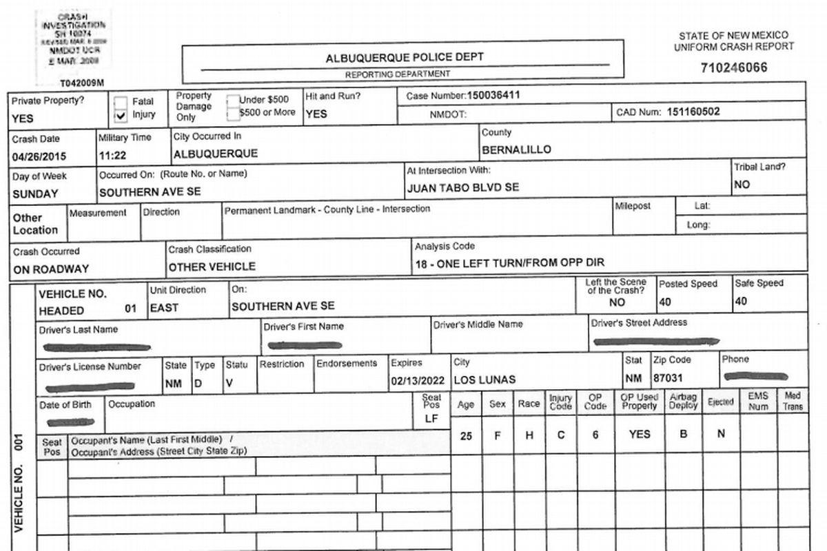 opp incident report