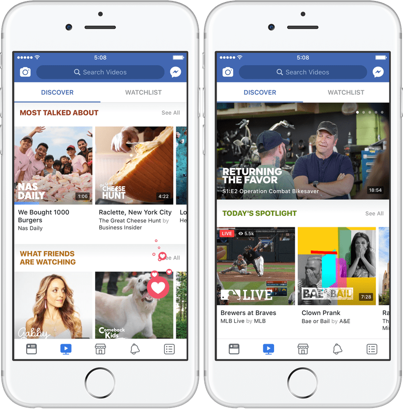 Watch: Facebook deu a conhecer o rival do Youtube